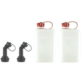 FuelFriend®-PLUS 1,5 Liter Benzinkanister Reservekanister Motorrad mit Füllrohr