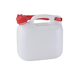 Bundle! Petrol Can 5 Litres Natural/Clear with UN-Certification + Quick-Refueling-System