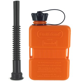 FuelFriend® PLUS 1,0 liter ORANGE - Limited Edition - with flexible spout