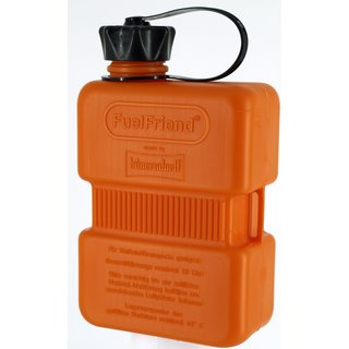 FuelFriend® PLUS 1,0 liter ORANGE with lockable spout